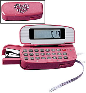 Love It or Leave It? Pink Calculator/Stapler Combo