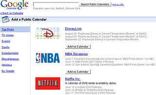 Geek Tip: Using Google Calendar Gallery