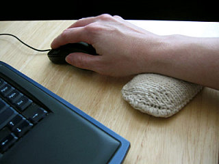 Totally Geeky or Geek Chic? Knit Wrist Pillow