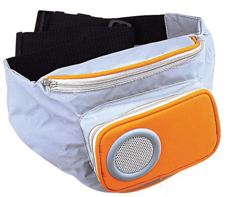 Totally Geeky or Geek Chic? MP3 Spraker Bag
