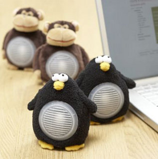 Totally Geeky or Geek Chic? Plush Animal Speakers