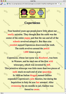 Play Mad Libs Online!