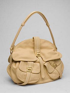 BULGA Buckles Handbag in Cream