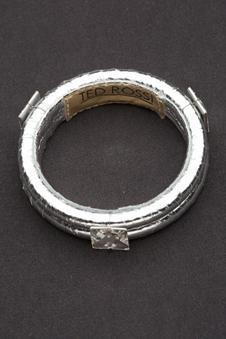 Ted Rossi Mini Crystal Bangle in Silver