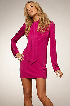 Mara Hoffman Secretary Dress in Fuchsia