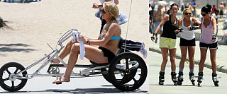 Lindsay Breaks From Rehab To Hit The Beach