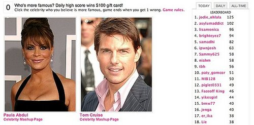 Play Celebrity Faceoff and Win a $100 Gift Card!