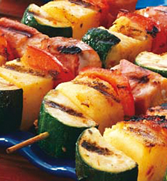 Fast & Easy Dinner: Salmon Polenta Skewers