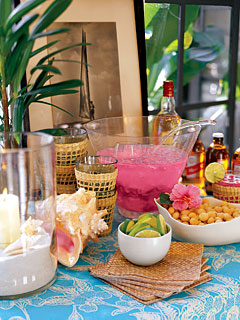 Come Party With Me: Luau Dinner For 8 - Drinks