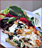 Fast & Easy Dinner: Artichoke-Heart, Spinach, and Mozzarella Bread Pudding