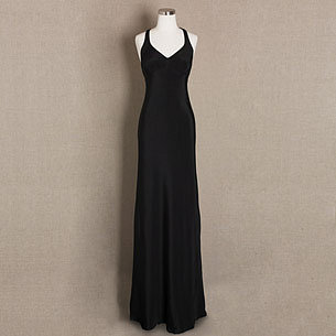 Caroline long halter dress