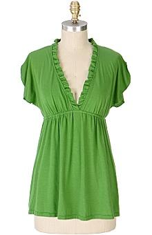 Anthropologie - Green Blouse
