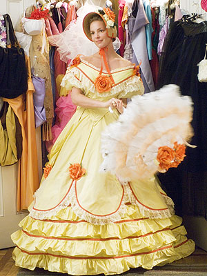 BEST BONNET It took about a month to hand-make a series of eight Gone with the Wind-inspired gowns, each in a different color o