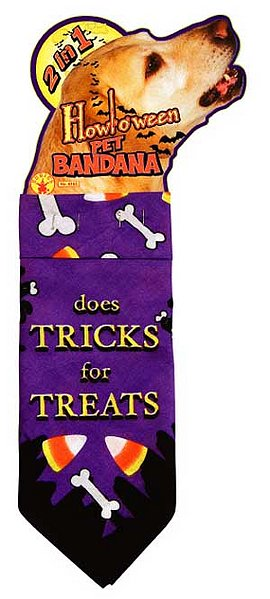 Does Tricks for Treats Halloween Bandana 