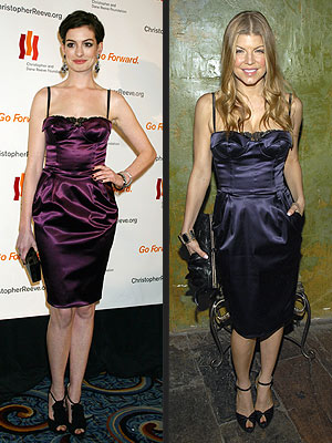 WHO WORE IT BEST: ANNE HATHAWAY OR FERGIE?