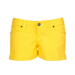 Kitson Robertson Dare Me Yellow Denim Hot Shorts