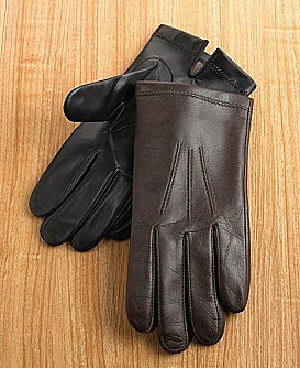 Clubroom Leather Cashmere Lined Gloves