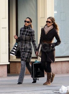 Jessica Alba's Stunt Double's Plaid Coat.