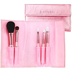Think Pink: Metallic Sephora Pocket Brush Set