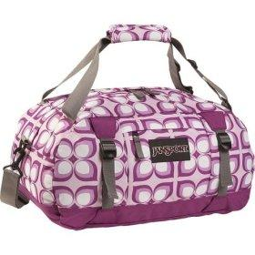 TROPICAL PRINT: Jansport Purple Sports Duffel Bag