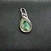The aqua earrings
