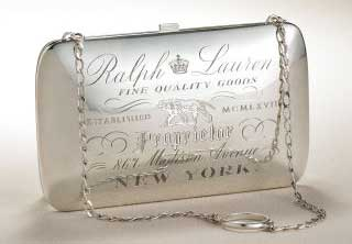 etched metal evening Handbag