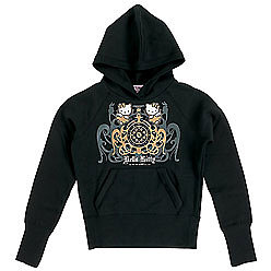 Hello Kitty Hooded Sweatshirt: Gothic