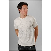 Rok   Lola mens, womens clothing boutique: Trovata, Naturalist, Tee, T-Shirt, Mens, Printed, Antique White, Cream, Deer