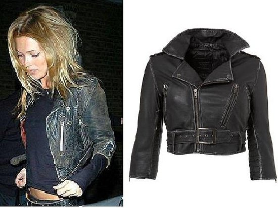 kate moss cropped leather jacket & the the topshop version