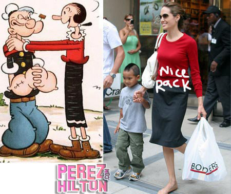 Fashion Faceoff: Angelina Jolie vs. Olive Oyl