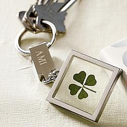 Gift for Her or Him:: RedEnvelope - four-leaf clover key chain