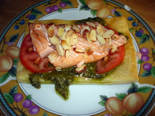 Reader Recipe: Salmon with Puff Pastry and Pesto