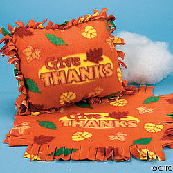 Thanksgiving Tied Pillow Craft Kit