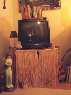 DIY: Grass Skirt TV Stand