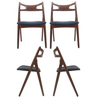 Crave Worthy:  Hans Wegner Teak Dining Chairs