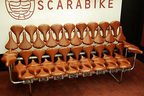 Weird Furniture:  Bike Seat Sofa