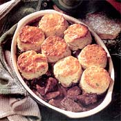 Beef Stew with Herb Biscuits Recipe