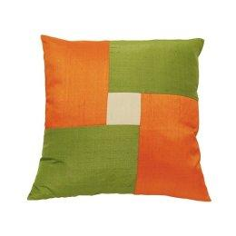 "Target : Raw Silk Square Pillow - Avocado/ Pumpkin/ Cream (18"")"