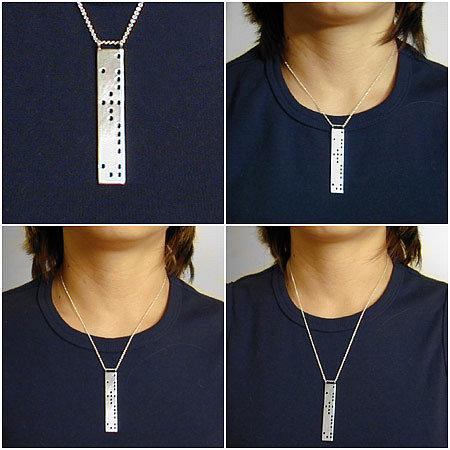 JANET STERLING SILVER DESIGN - WTC fundraiser necklace