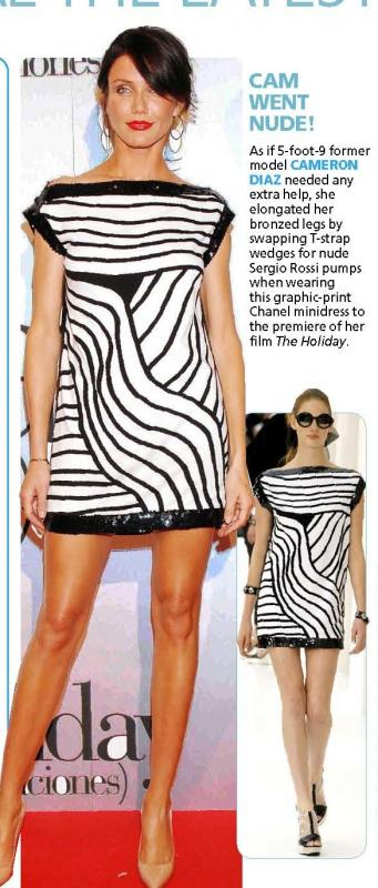 Solved! Cameron's Black and White Minidress