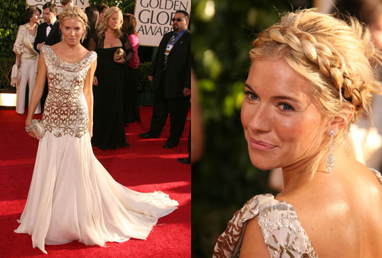 The Golden Globes Red Carpet: Sienna Miller