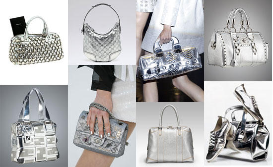 Trend Alert: Attack of the Silver Handbags!