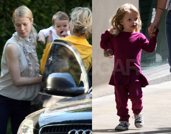 Gwyneth Spends QT With Apple & Moses