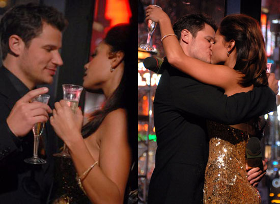 Nick and Vanessa's NYE Kiss