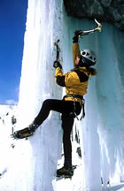 Ice Climbing:  It's Kick-AXE