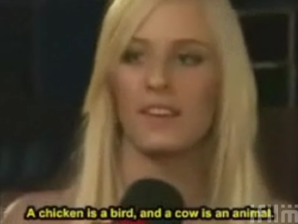 You Mean A Chicken's An Animal?
