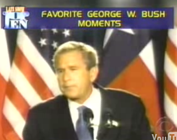 Letterman's Top Ten George W. Bush Moments