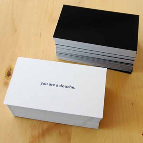 "Product of the Day: ""You Are a Douche"" Cards"
