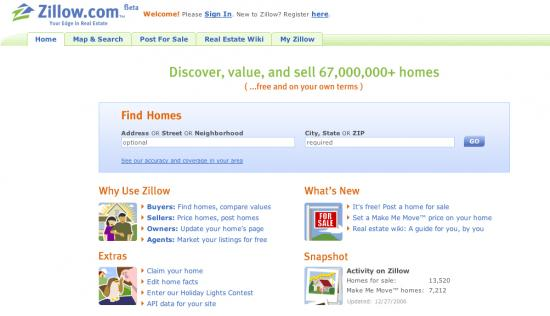Website of the Day: Zillow.com