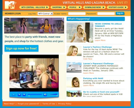 MTV Introduces Virtual Hills and Laguna Beach